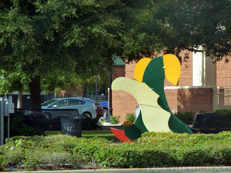 Alligator -- an example of downtown DeLand's abstract art.